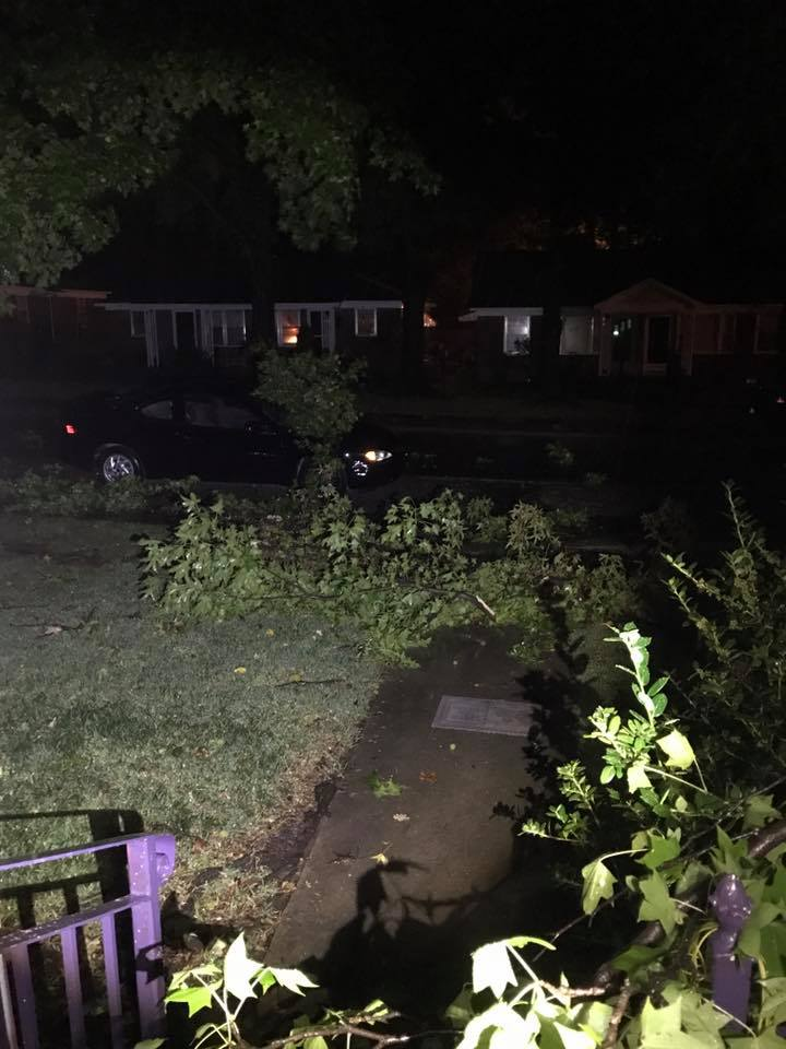 several tree branches down in Fort Smith - Sent in by Kevin Bunn