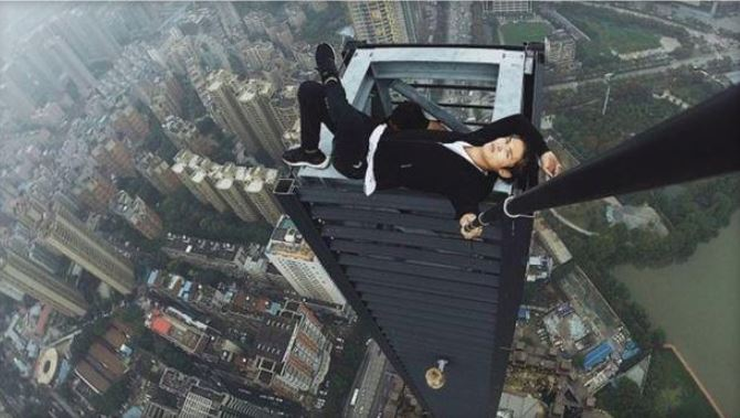Chinese 'Rooftopper' Films His Own Death During Skyscraper Stunt
