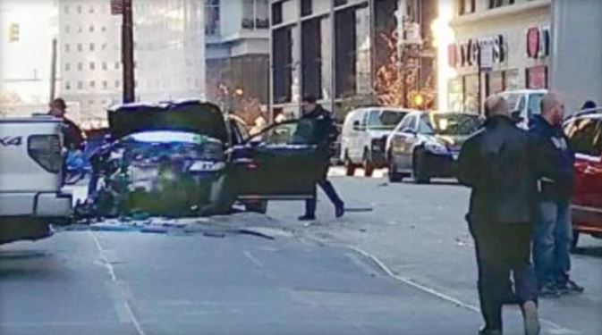 Car Crash Injures At Least Six Near World Trade Center In Lower Manhattan