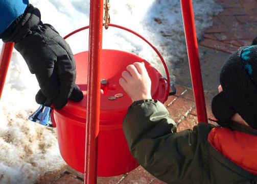 Anonymous Donor Drops $200000 Check into Salvation Army Kettle