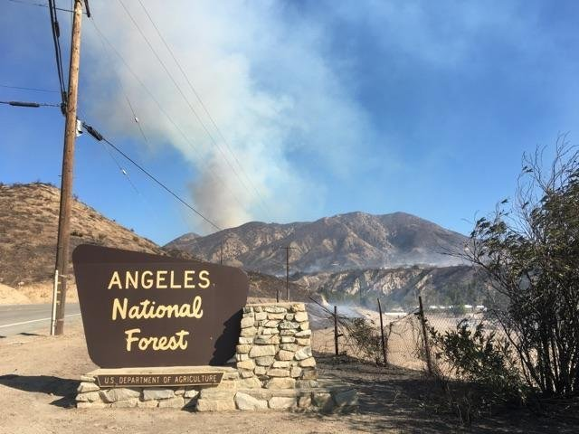 The Creek Fire in Los Angeles County.