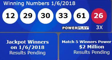 Powerball Winning Numbers    And Powerball