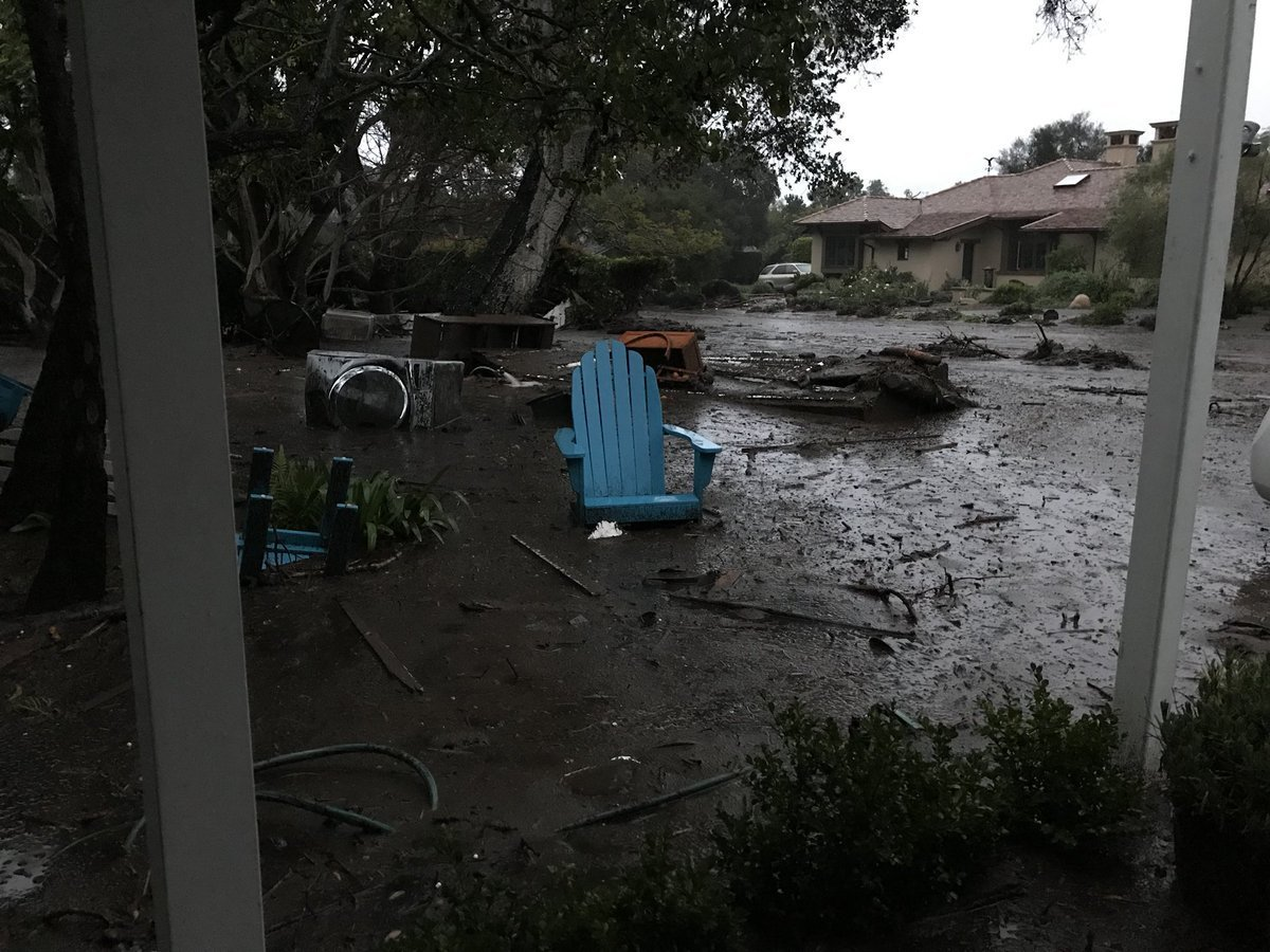 Death toll in Southern California mudslides rises to at least 20