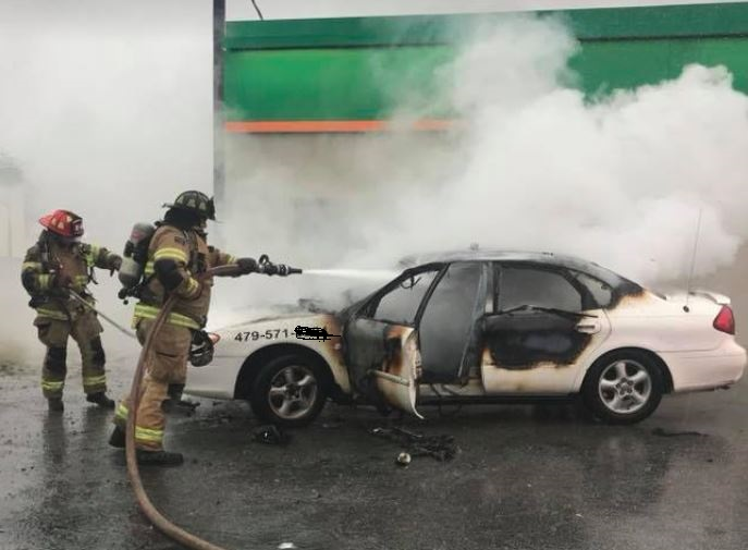 Rogers Car Fire