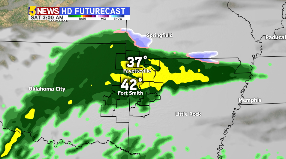 Rain Returns: Late Friday Into Saturday