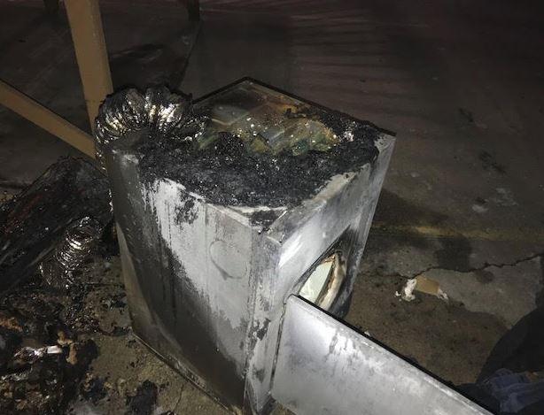 Burned item at Barry/Huntsville apartment, Springdale