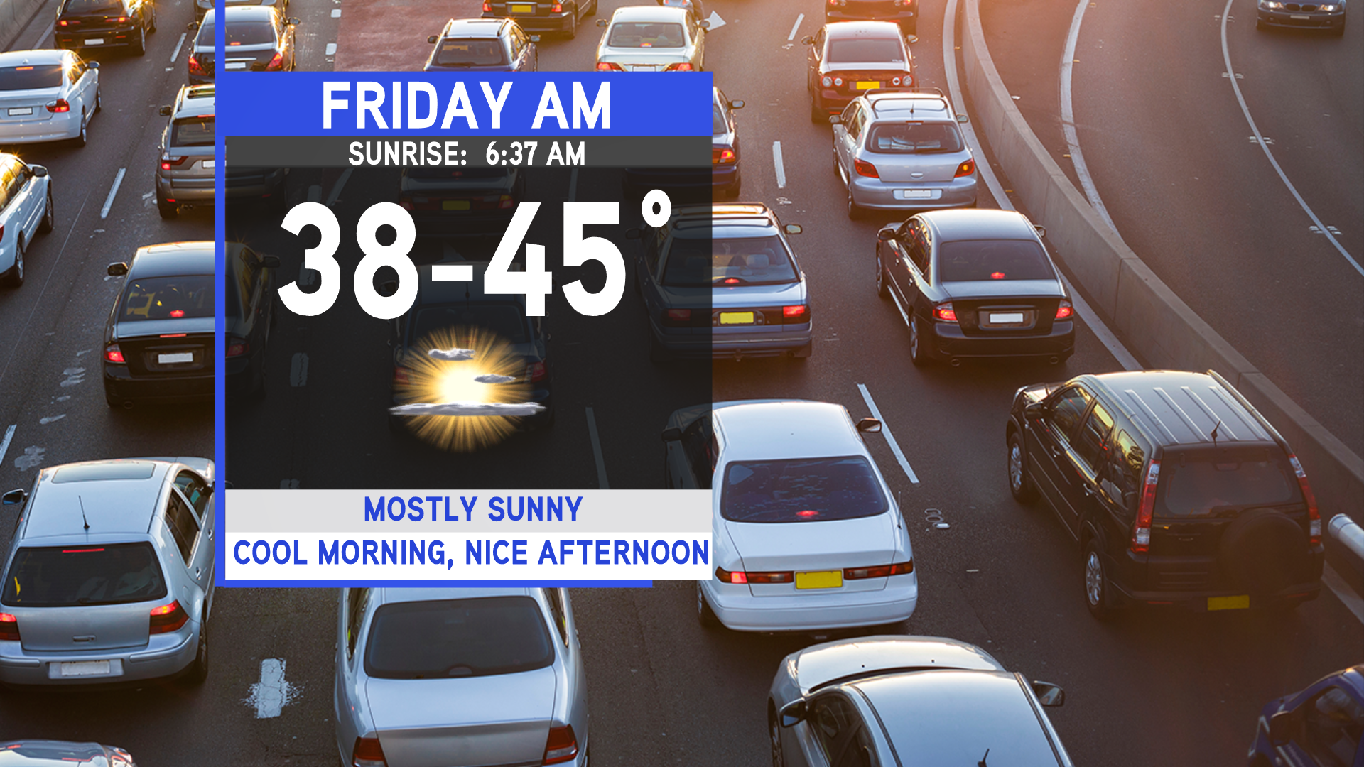 Nice Friday, cooler weekend on tap