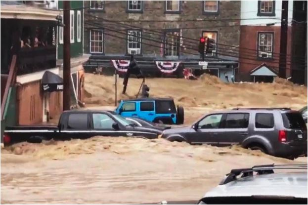 Videos show devastating flash flood in Baltimore suburb