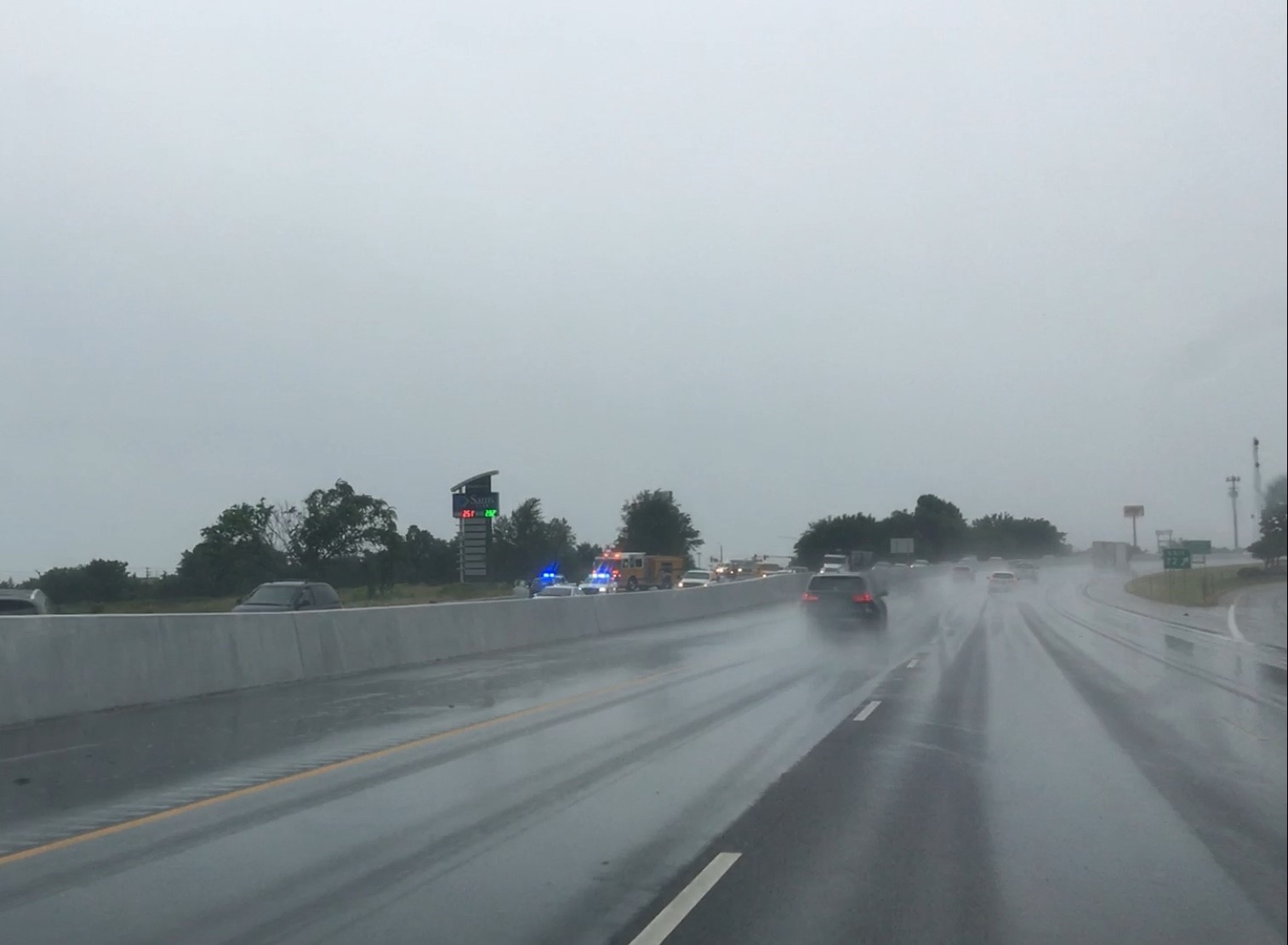 A multi-vehicle accident just south of U.S. 412 on I-49 backed up southbound traffic.