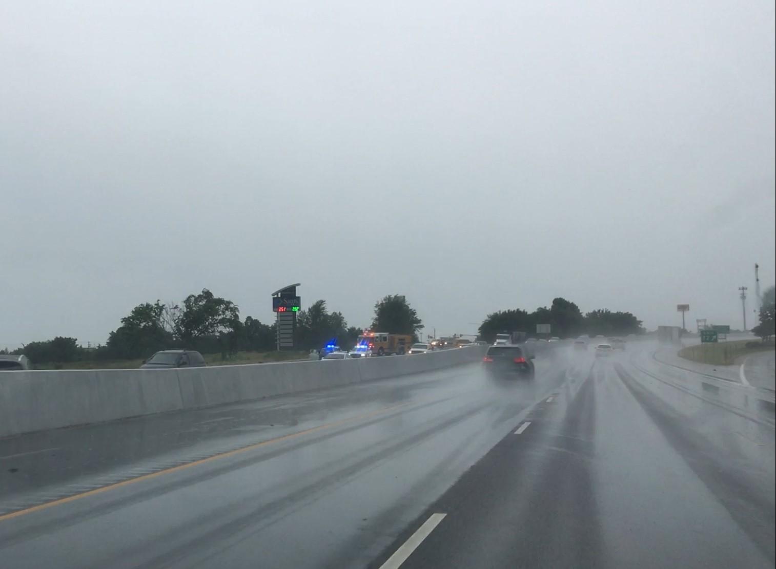 Multi-Vehicle Wreck Blocks I-49 Southbound Lanes | Fort