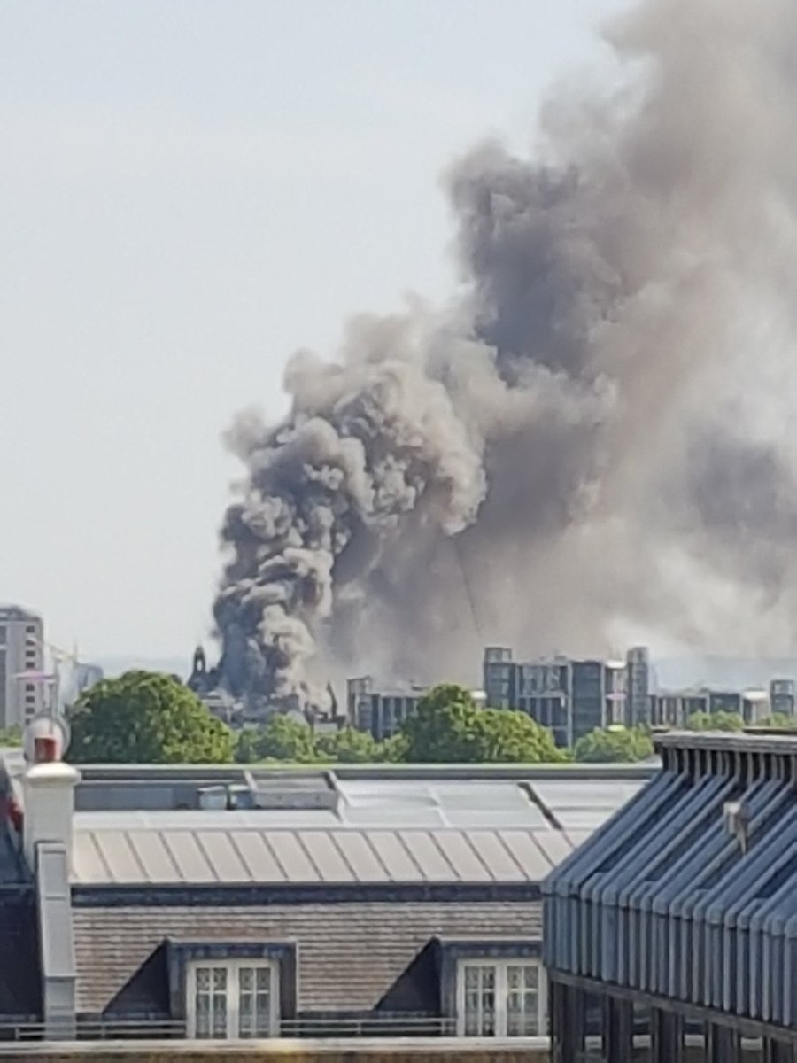 The fire in London is at the Mandarin Oriental hotel in Knightsbridge, the hotel's Director of Corporate PR and Media Content, Sally De Souza told CNN on Wednesday.