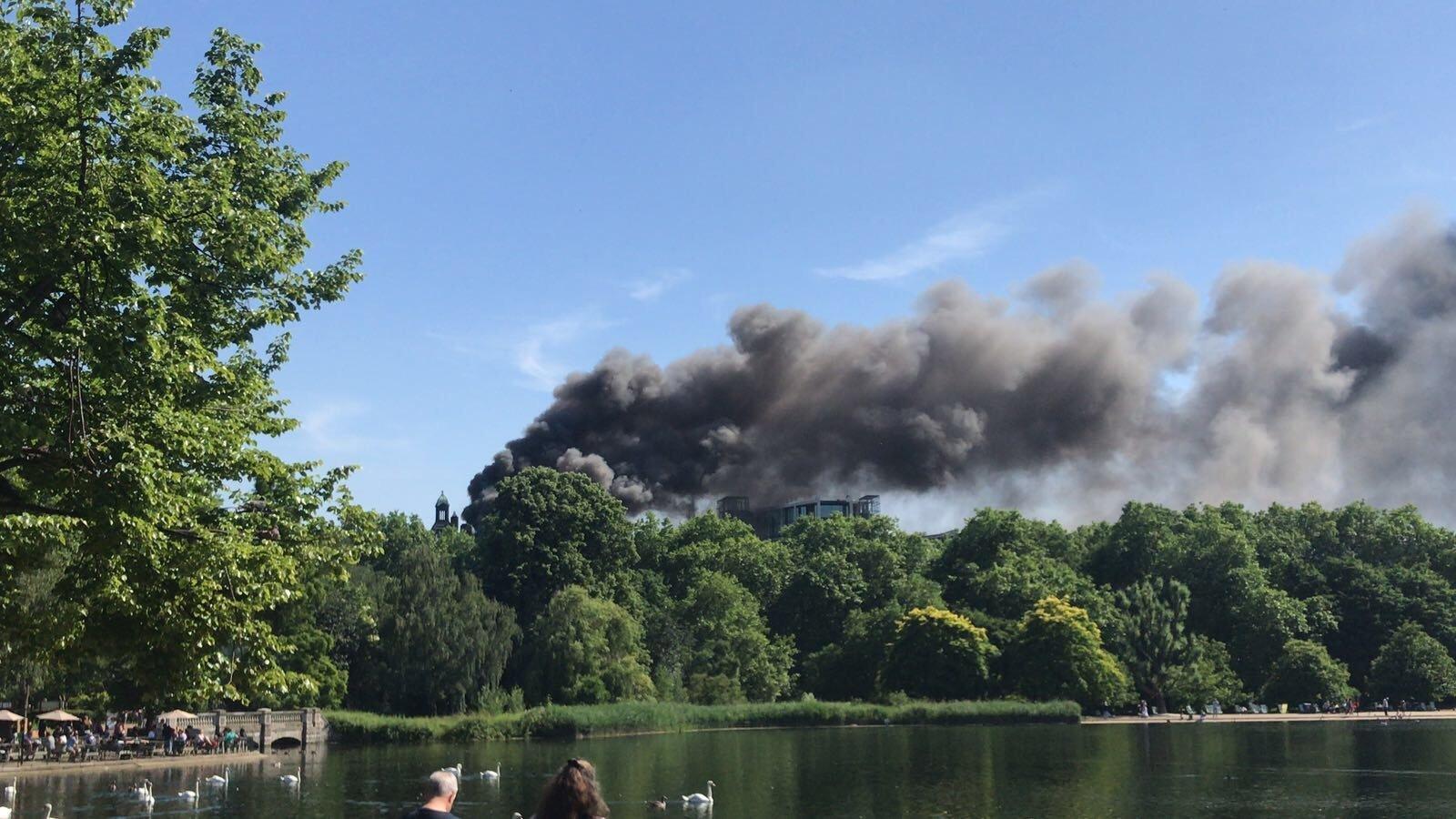 Fire in Hyde Park London