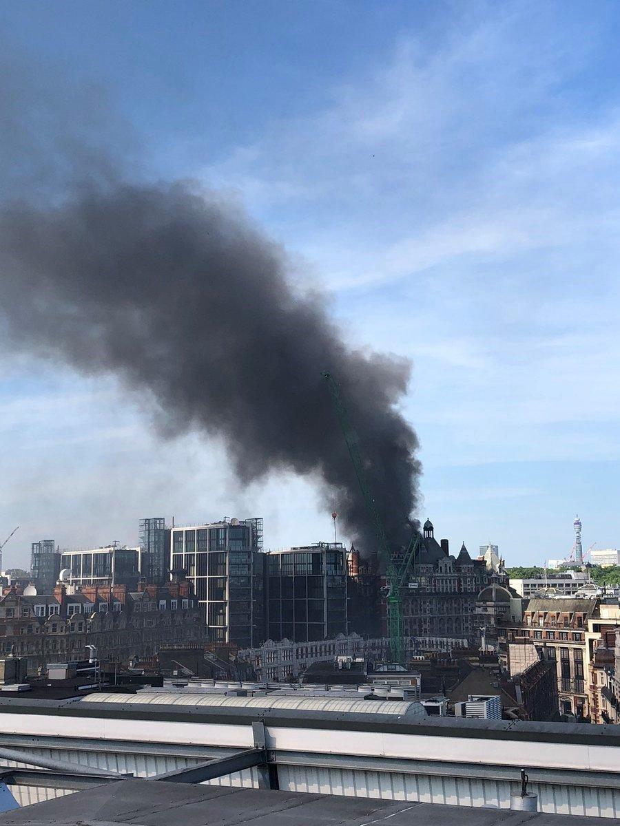 Fire at Mandarin Oriental Hotel in London