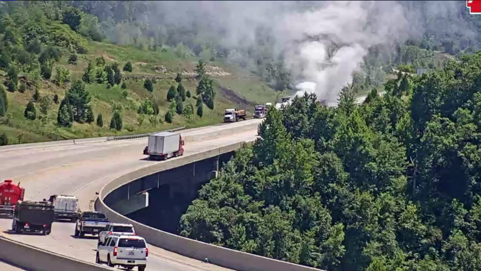 I-49 Near Winslow Reopened Following Tractor-Trailer Fire | Fort