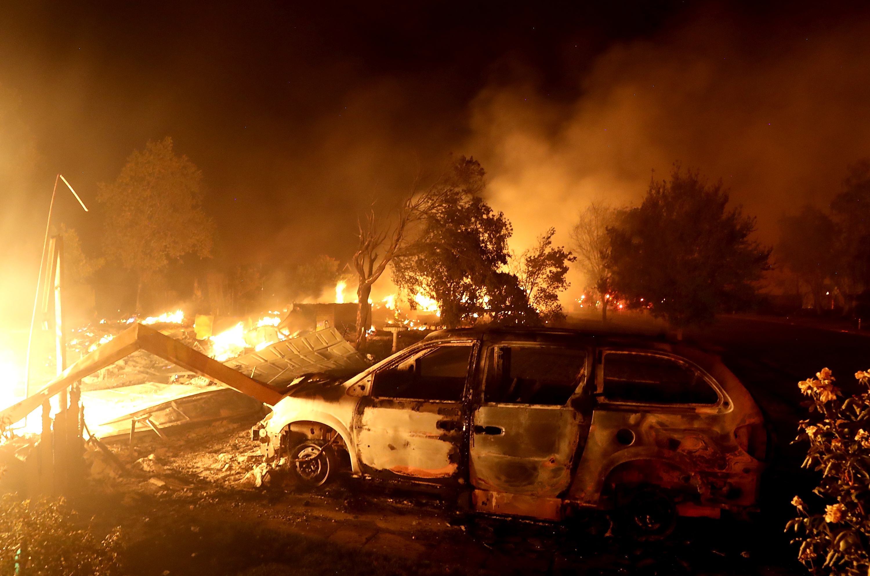 California governor issues fire emergency for two counties ravaged by wildfire