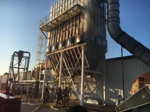 Rogers Firefighters Respond To Fire At Wood Specialty Products