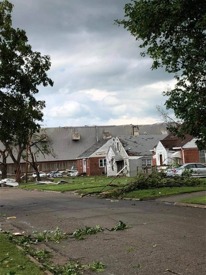 Several tornadoes tore through Iowa on Thursday, including one that sent six people to the hospital with injuries, officials said.