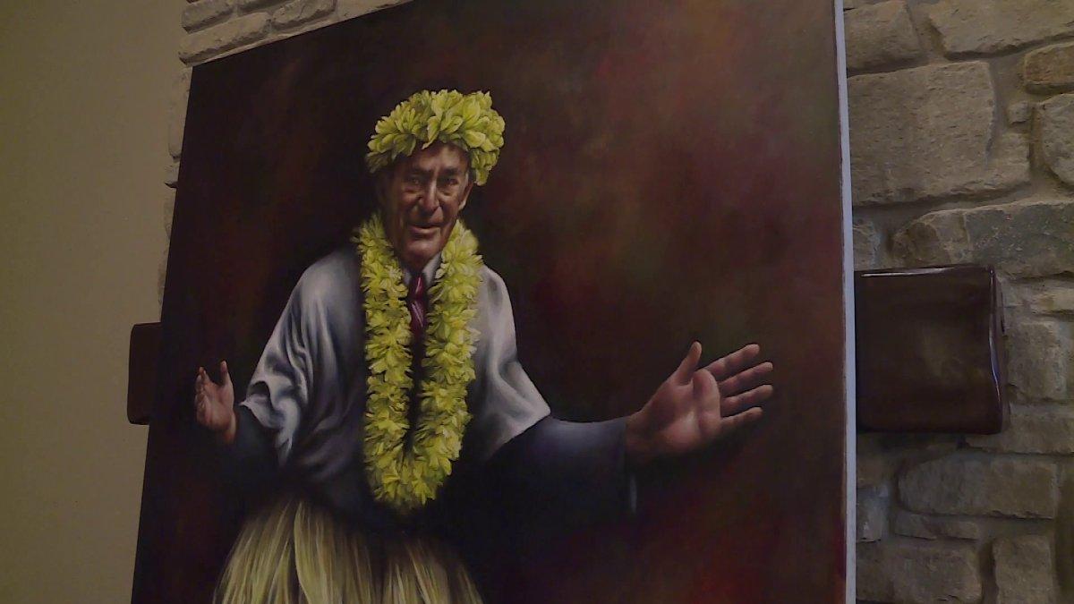 Bentonville Woman Paints Iconic Sam Walton Photo