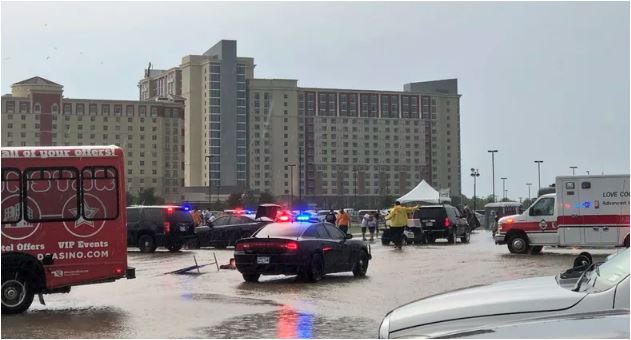 Injured After Strong Storm Knocks Over Concert Entrance At WinStar