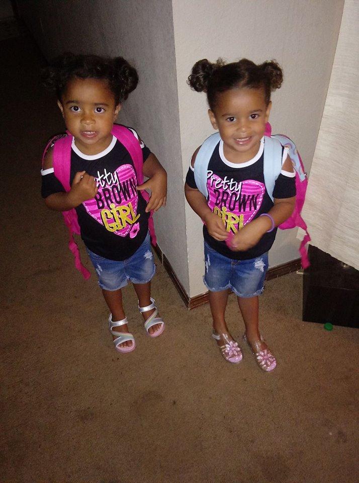 Twins Arionna & Kiara Moffett Elementary