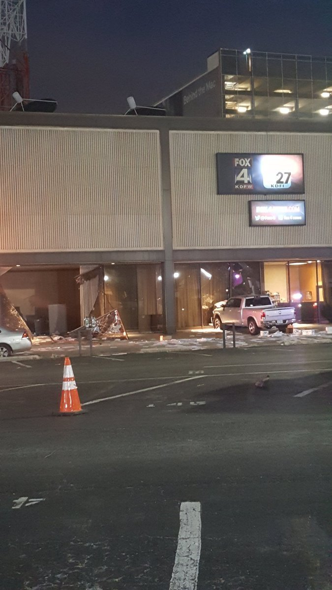 Man Arrested After Crashing Truck Into Fox 4 News Building