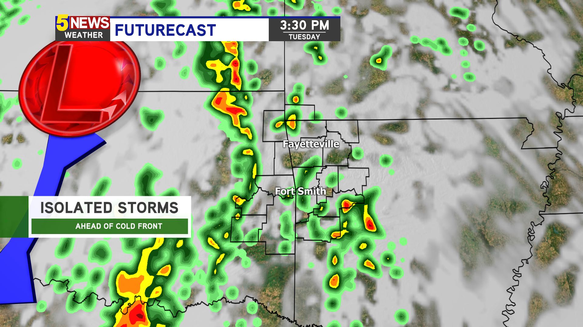Your hour-by-hour forecast for Tuesday's severe weather threat