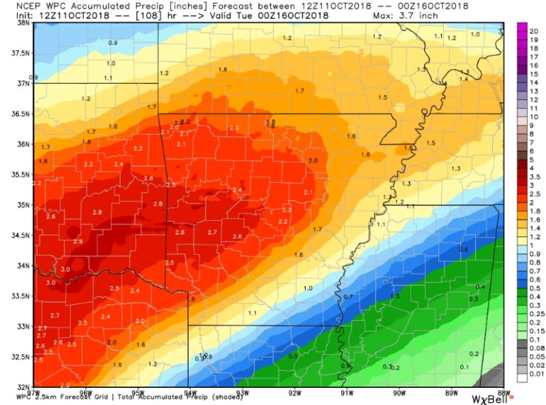 The Timing of Several Upcoming Rain Events
