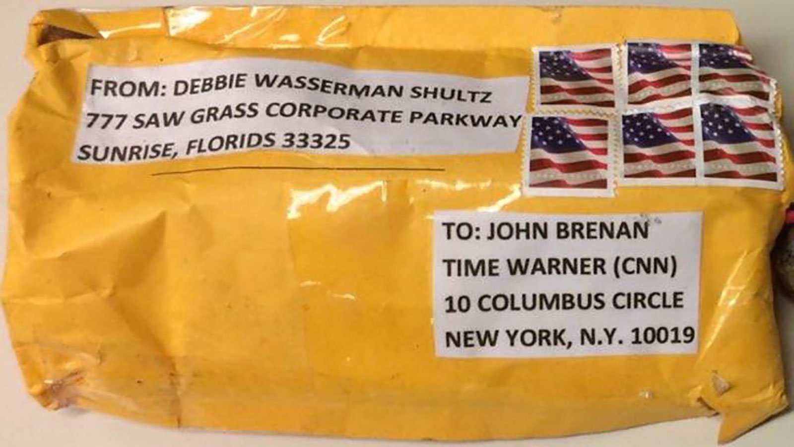"""The device sent to the Time Warner Center was a """"live explosive device,"""" NYPD Commissioner James O'Neill said at an afternoon news conference, adding that police were also investigating an envelope containing white powder that was found as part of the """"original packaging"""" of the device."""
