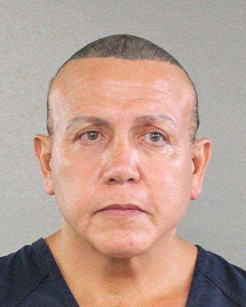 2015 mug shot of Cesar Sayoc provided by the Broward County Sheriff's Office