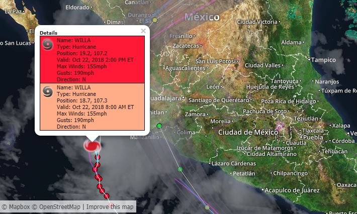 Hurricane Willa grows rapidly off Mexico's Pacific coast