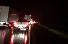 Accident Overturns Semi, Shuts Down Interstate 40 Eastbound | Fort