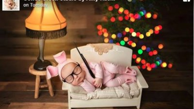 photographer defends a christmas story themed picture of baby ralphie - When Did A Christmas Story Come Out