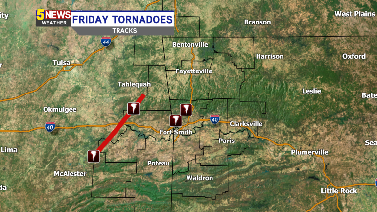 nws confirms two tornadoes in crawford county fort smith