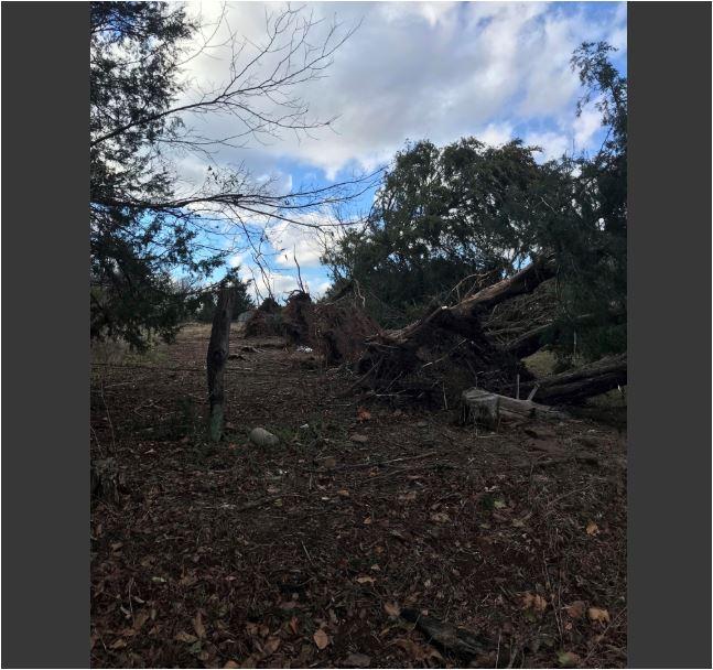 Storm damage Strickler, AR.  5NEWS viewer photo Eddie Crume