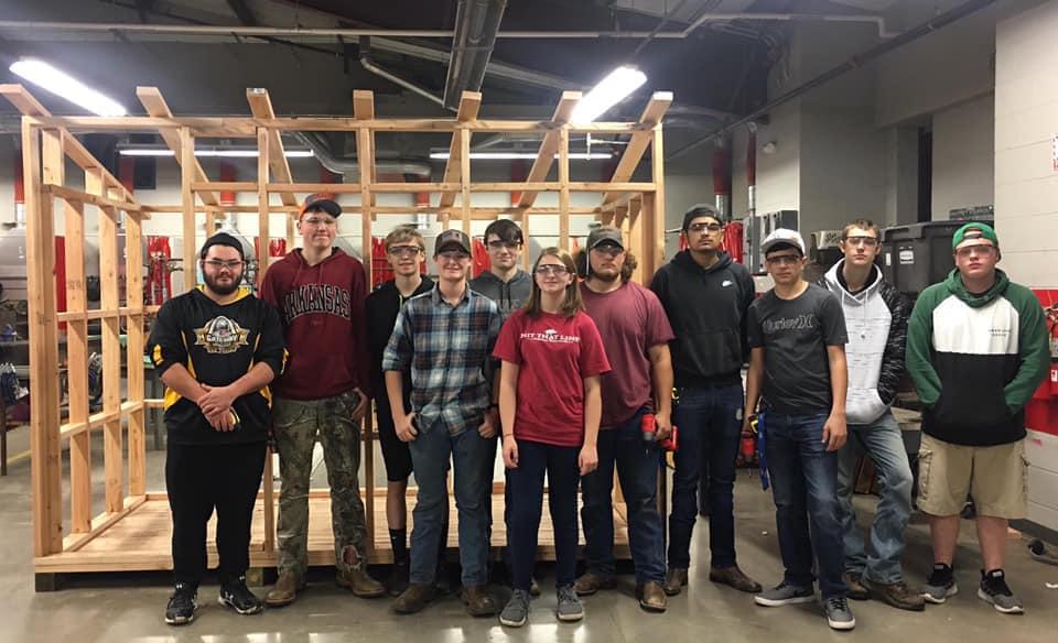 Elkins' Students Build Bus Stop Shelter