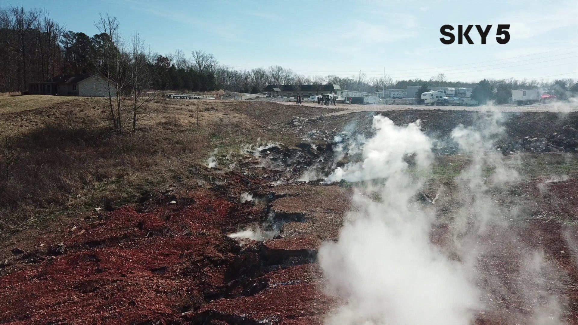 Work Underway To Extinguish Bella Vista Stump Dump Fire thumbnail