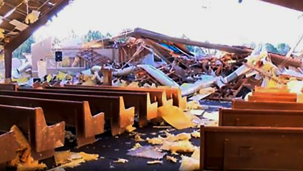 Tornado Destroys Mississippi Church