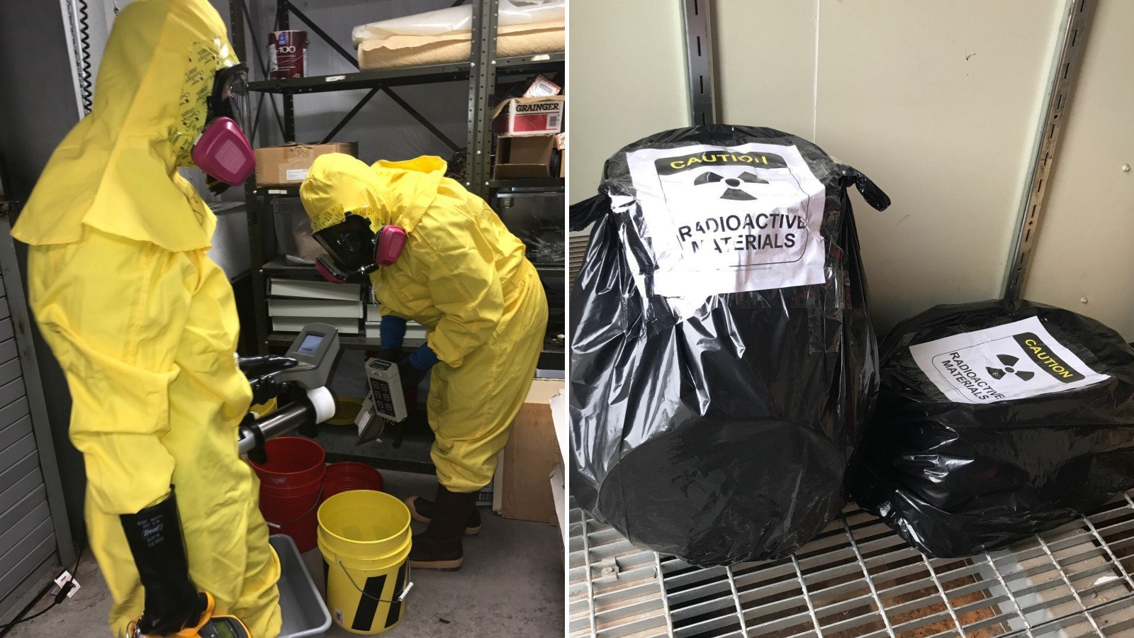 Buckets of uranium ore were found at the Grand Canyon museum. After NPS employees got rid of the ore, OSHA inspectors found the empty buckets back at the facility.