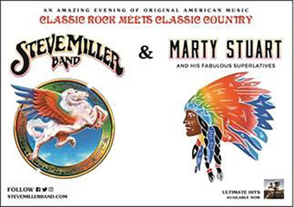 steve miller band marty stuart teaming up for tour stop at walmart amp fort smith. Black Bedroom Furniture Sets. Home Design Ideas