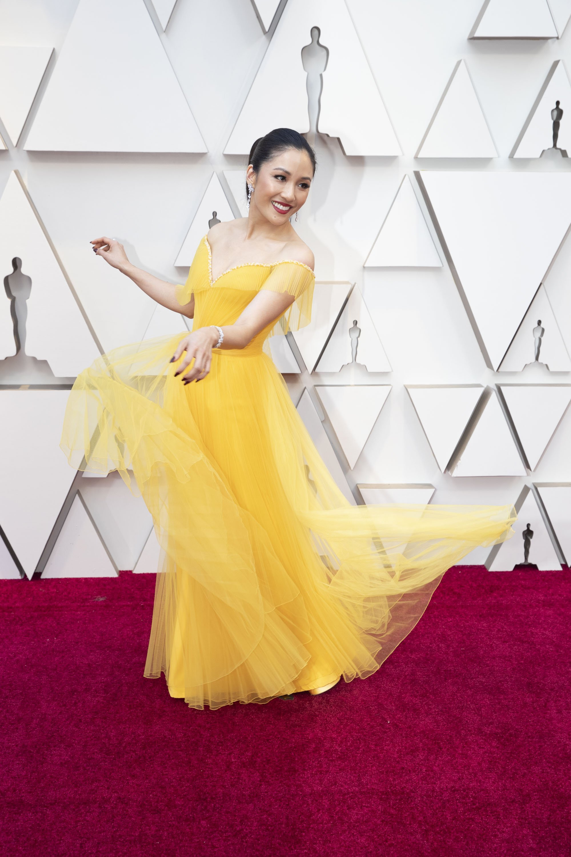 Constance Wu: Red Carpet from the The 91st Oscar broadcast on Sunday, Feb. 24, 2019, at the Dolby Theatre.