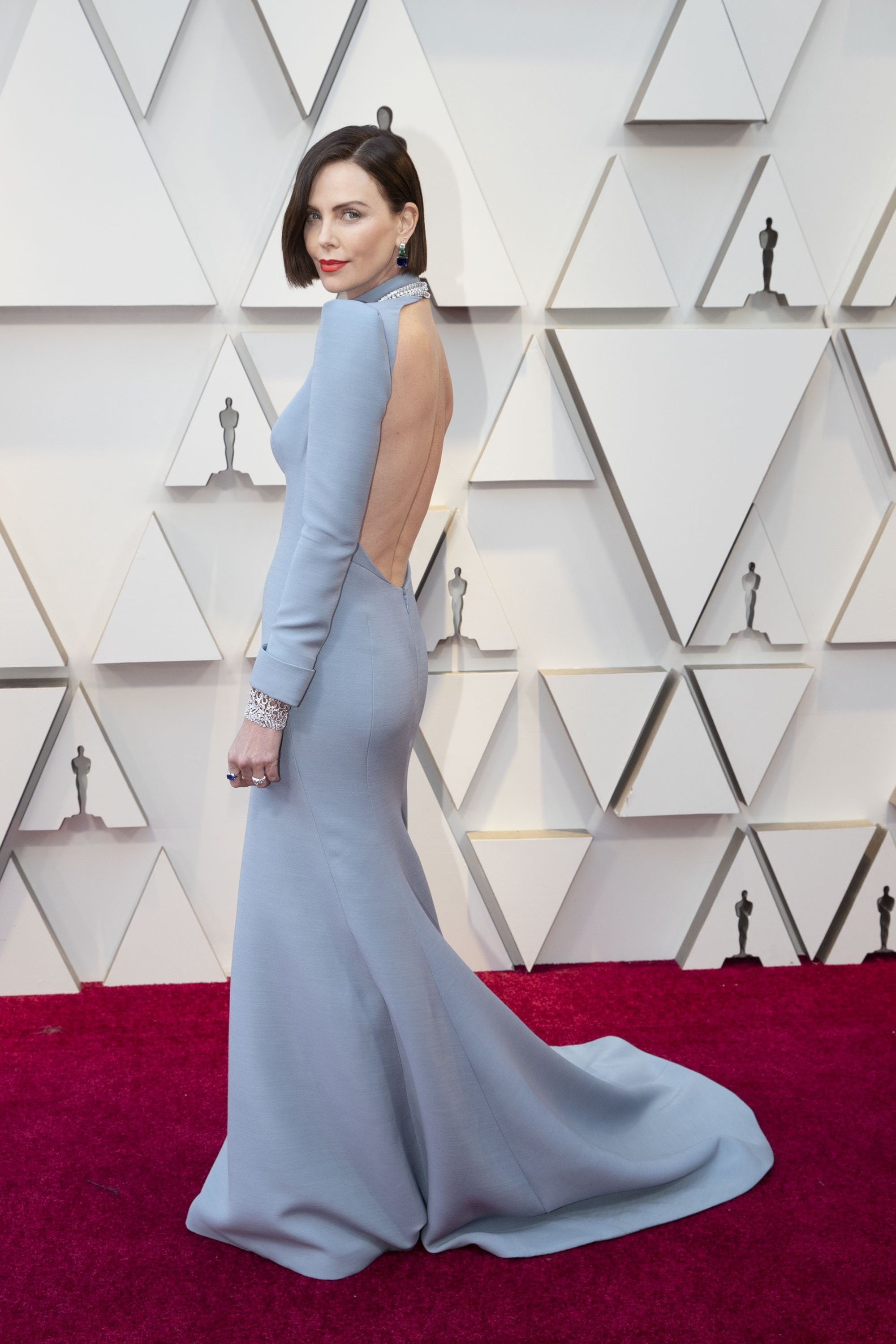 Charlize Theron: Red Carpet from the The 91st Oscar broadcast on Sunday, Feb. 24, 2019, at the Dolby Theatre.