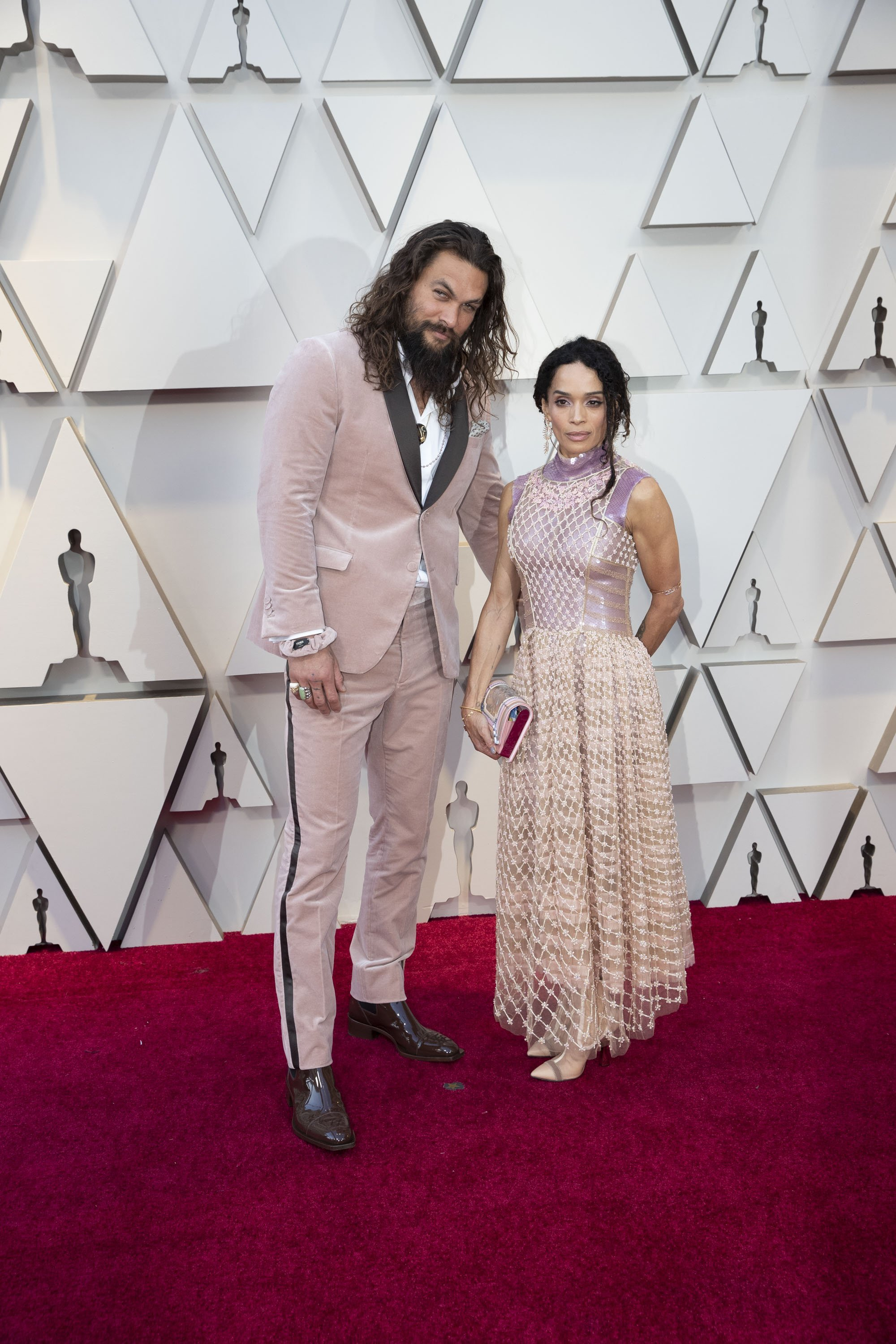 Jason Momoa and Lisa Bonet: Red Carpet from the The 91st Oscar broadcast on Sunday, Feb. 24, 2019, at the Dolby Theatre.