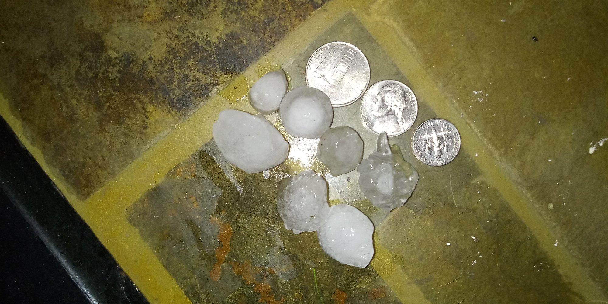 Hail in Sallisaw courtesy of Wyndmara Griffin.