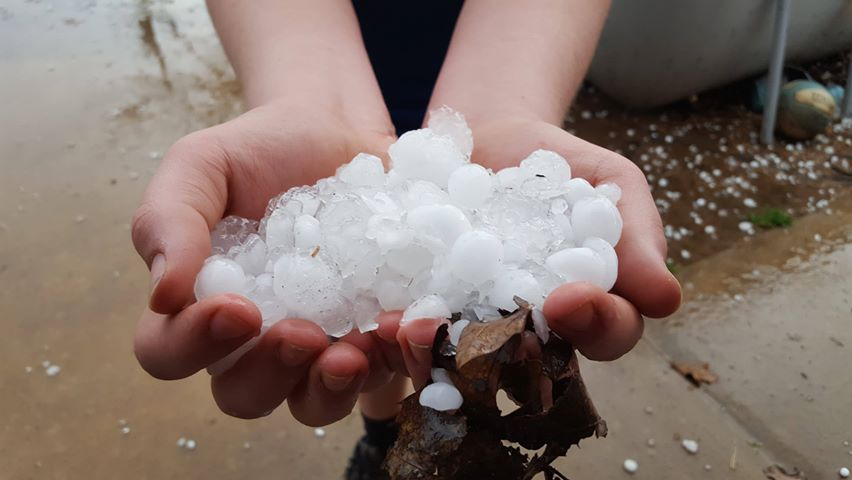 Hail in Shady Point courtesy of Stacey Treat.