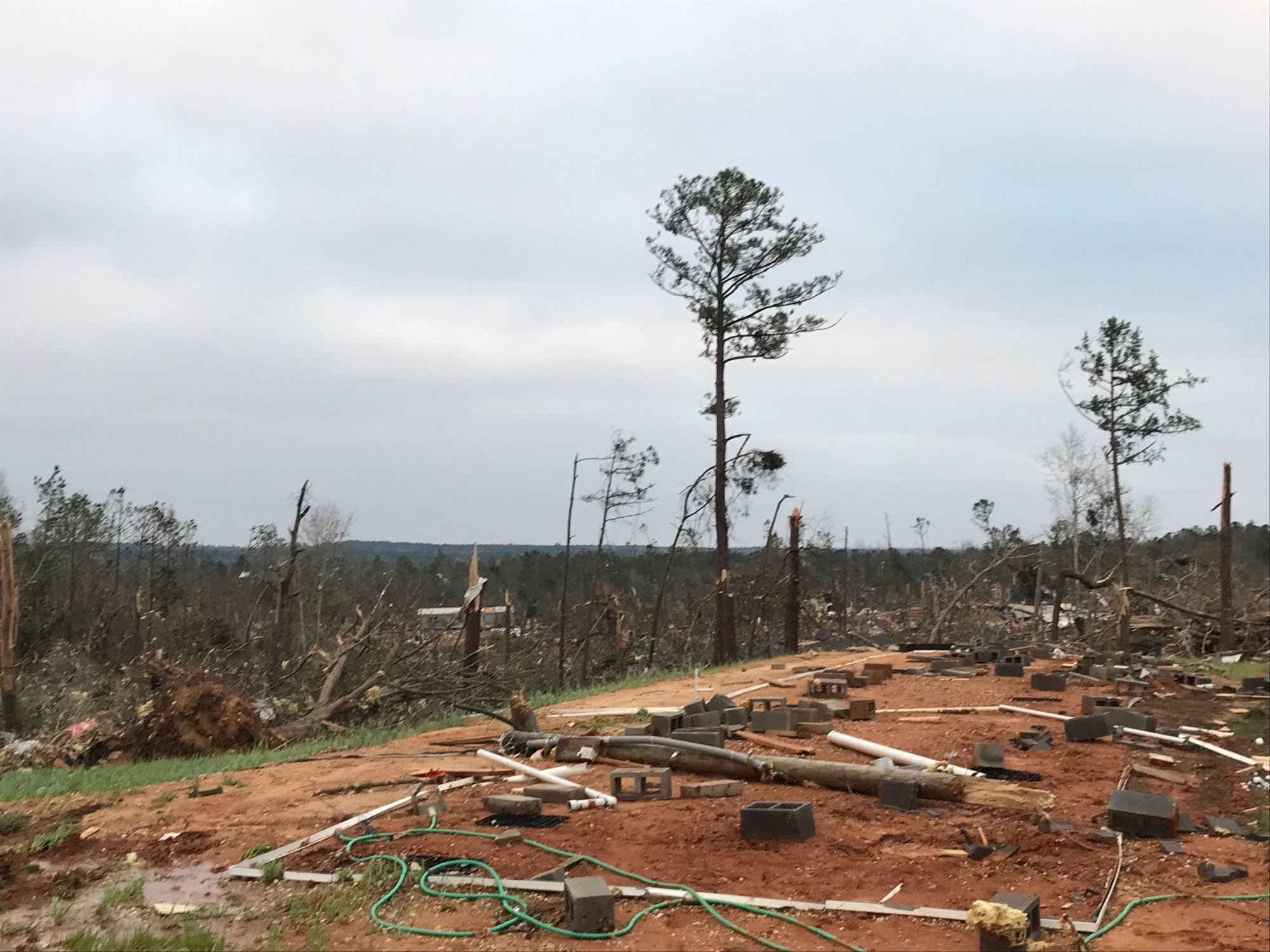 The National Weather Service recorded EF-3 damage in southern Lee County. That classification means the damage was severe, with winds of 136 to 165 miles per hour.