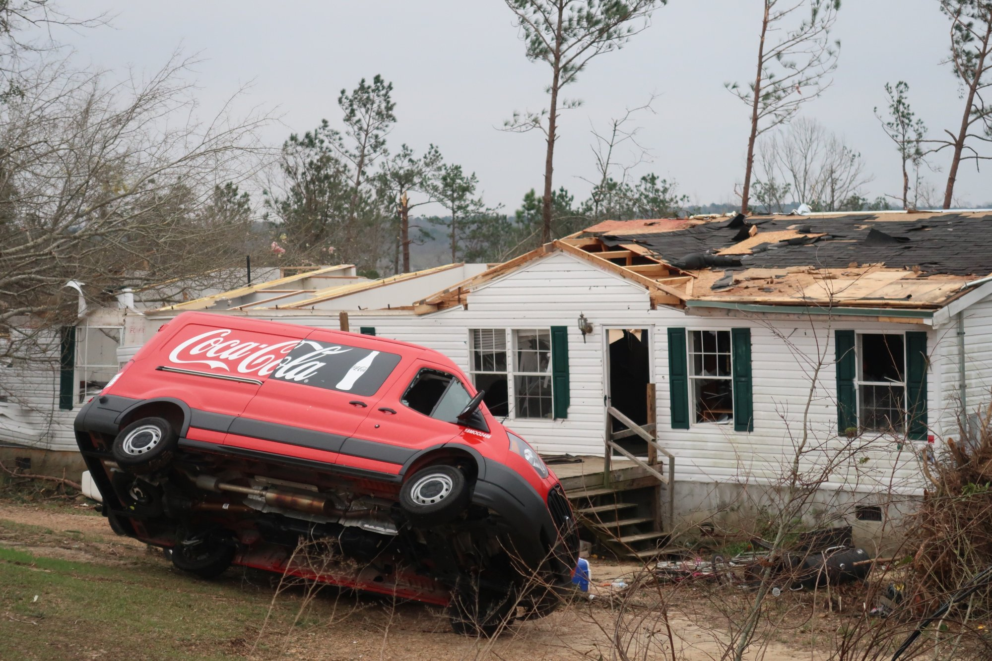 It appears that some people had only a five-minute warning Sunday afternoon before tornadoes ripped through the region.dation for mobile homes are scattered everywhere.