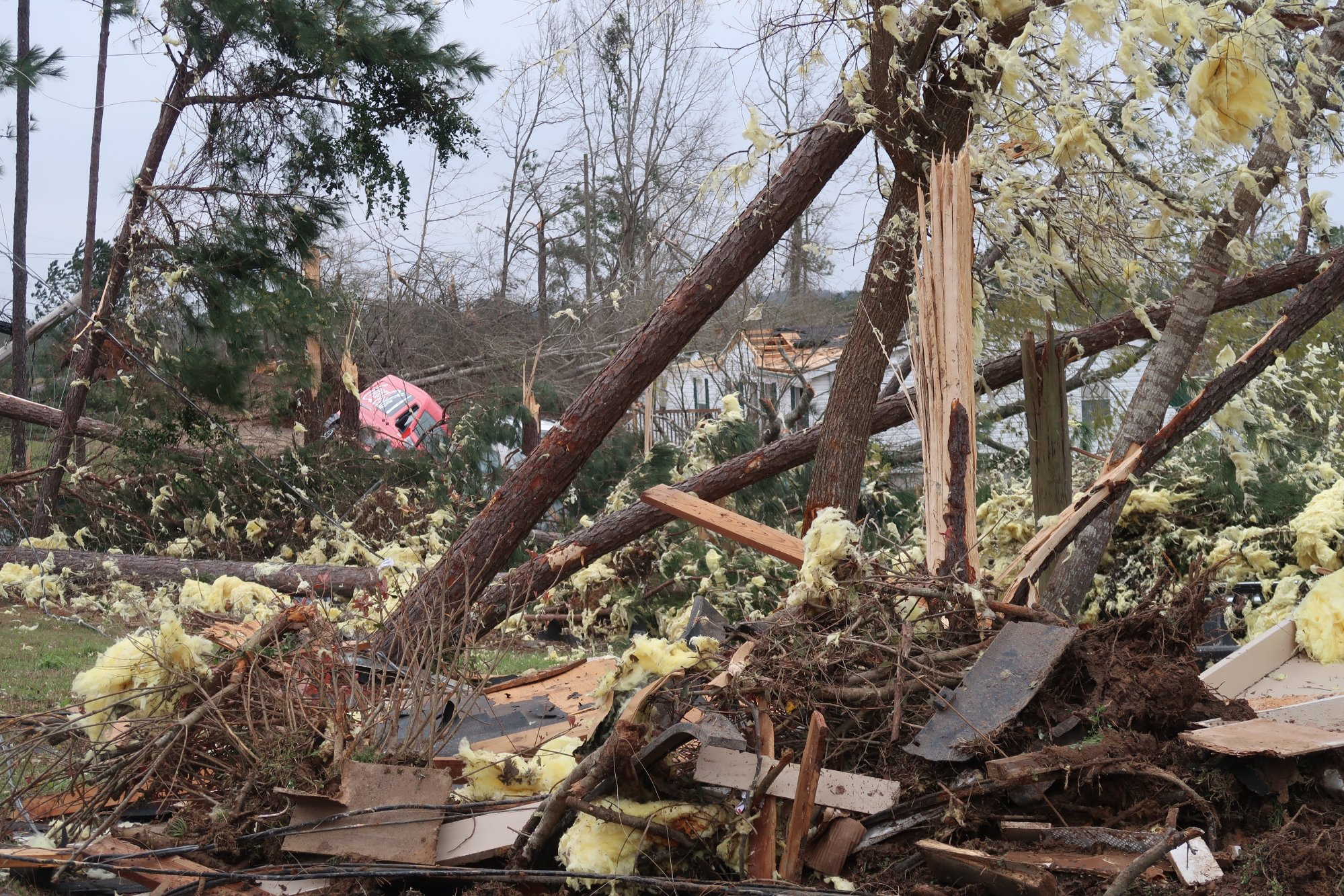 "At daybreak, emergency crews and residents witnessed more of the aftermath of the twisters that Sheriff Jay Jones called ""catastrophic,"" and the search was on for survivors and more victims."