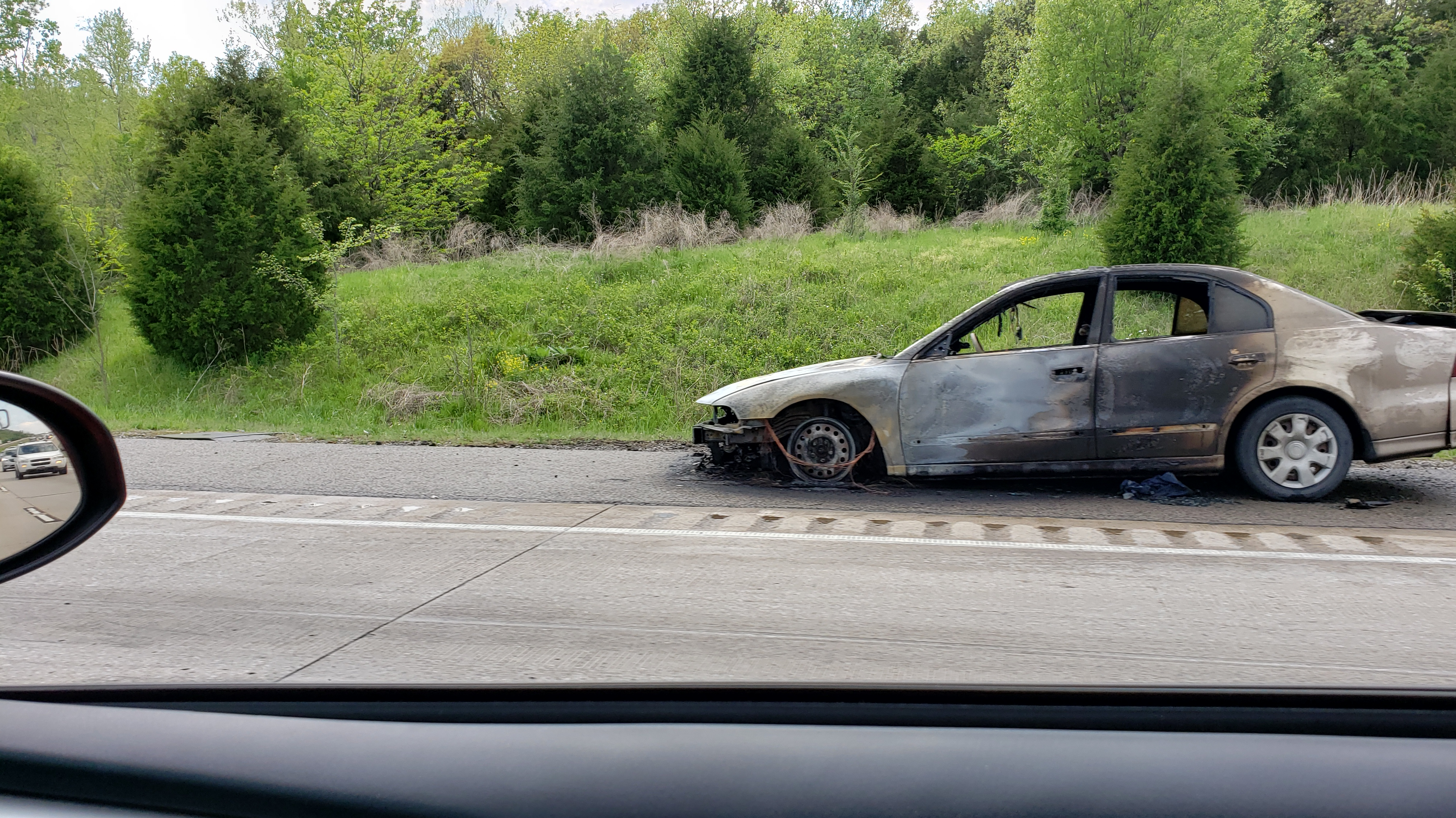 Car Fire Backs Up Traffic On I-49 thumbnail