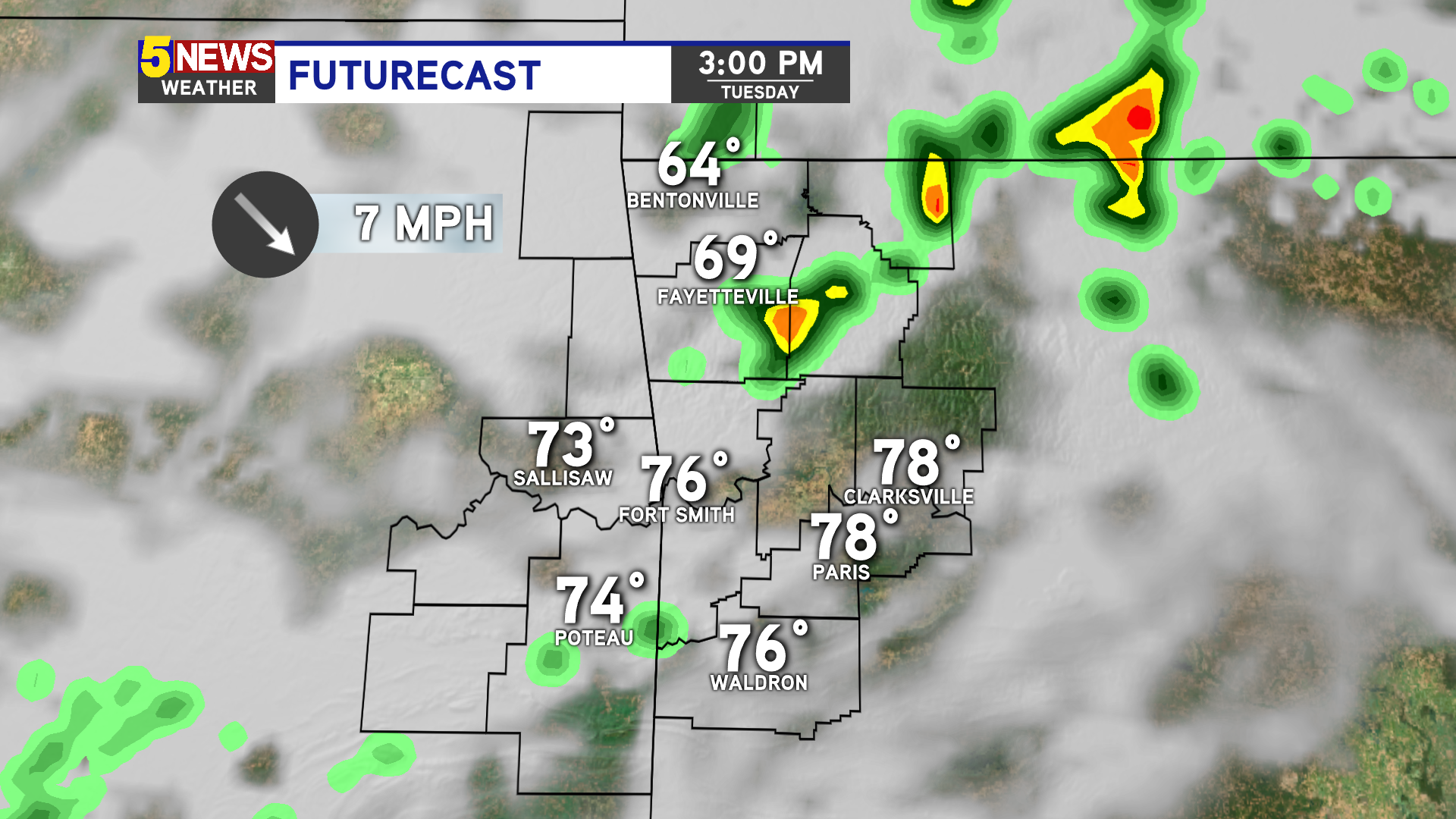 Few showers Thursday, isolated strong storms Friday