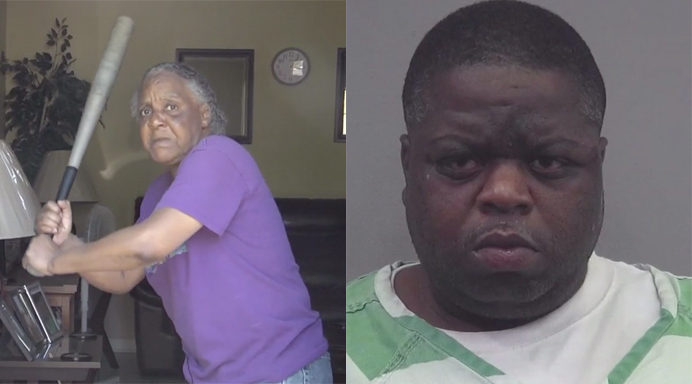 Woman Fends Off 300-Pound, Half-Naked Burglary Suspect With Baseball Bat thumbnail